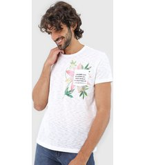 camiseta calvin klein jeans floral branca
