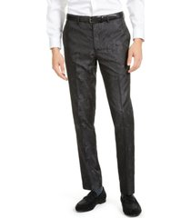 tallia men's charcoal tonal animal print pants