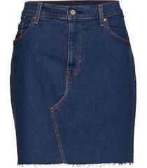 pl deconstructed skirt meet in kort kjol blå levi's plus