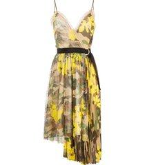 ermanno ermanno camouflage print asymmetric dress - neutrals