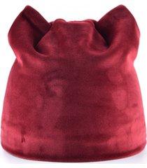 donne inverno e autunno cappelli caldi del beanie cappelli del gatto cappello del beanie del panno di velluto di colore puro
