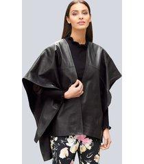 leren cape alba moda zwart