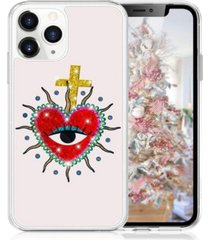 milanblocks iphone 11 pro heart glitter phone case