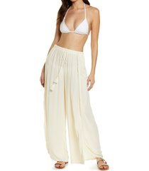 women's chelsea28 ana smocked split leg pants, size x-large - ivory