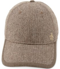 original penguin men's herringbone baseball cap