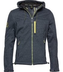 hooded winter windtrekker dun jack blauw superdry