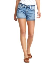 silver jeans co. elyse cuffed denim shorts