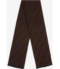oblique scarf brown 1