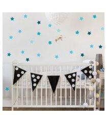 adesivo de parede infantil estrelas azul