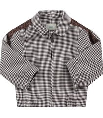 fendi pied de poule babyboy jacket with double ff