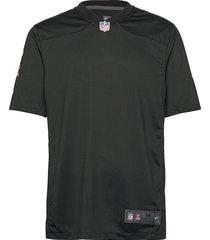 atlanta falcons nike game alternate jersey - blank t-shirts short-sleeved svart nike fan gear