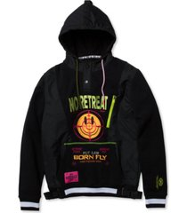 born fly men's big & tall slim-fit no retreat barbwire hoodie