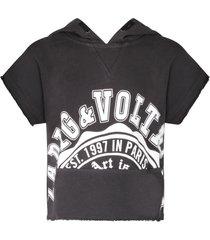 zadig & voltaire grey sweatshirt for kid with logo