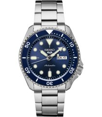 seiko men's automatic 5 sports stainless steel bracelet watch 42.5mm