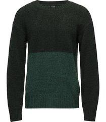k-shetl pullover stickad tröja m. rund krage grön diesel men