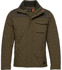 classic short quilted jacket doorgestikte jas groen scotch & soda