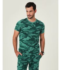 camiseta slim estampada masculina malwee verde escuro - xgg