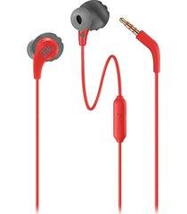 audifonos jbl endurance run cable 3.5mm deporte - rojo