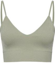 bra seamless rib top lingerie bras & tops soft bras grön lindex