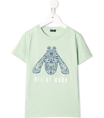 il gufo bee at work crew-neck t-shirt - green