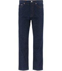 a.p.c. raw denim jeans