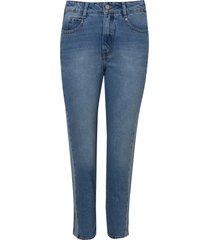 calça rosa chá bang jeans azul feminina (jeans claro, 50)