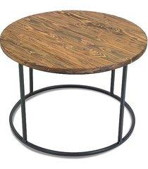 stolik kawowy drewniany loft 70 cm drewniany