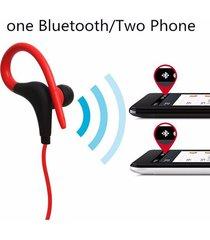 audífonos bluetooth deportivos, bt-1 estéreo blutooth sport inalámbrico in ear monitor auricular con cancelación de ruido manos libres (rojo)