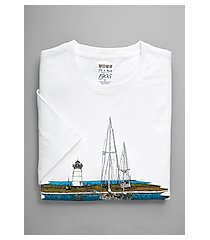 1905 collection tailored fit boat print crew neck t-shirt - big & tall