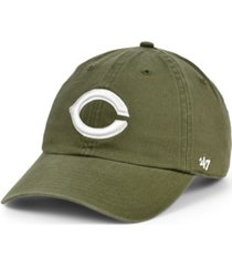 '47 brand cincinnati reds olive white clean up cap