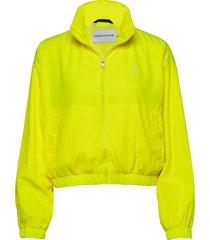 back logo windbreaker zomerjas dunne jas geel calvin klein jeans