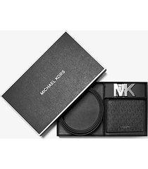 mk set portafoglio a libro e cintura con logo - nero (nero) - michael kors