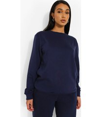 basic sweater, navy