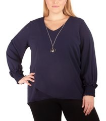 ny collection women's plus size crossover tunic