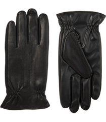 isotoner signature men's sleekheat faux nappa touchscreen gloves