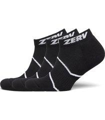 zerv premium socks short 3-pack ankelstrumpor korta strumpor svart zerv