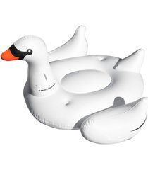 swimline inflatable swan pool float with cup holders