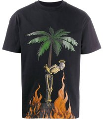 burning skeleton t-shirt