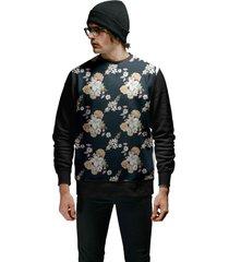 casaco de moletom masculino flores street wear new floral