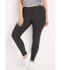 maurices plus size womens high rise ultra soft leggings gray