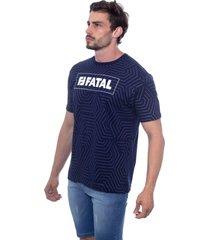 camiseta fatal especial azul marinho