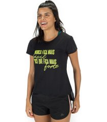 camiseta oxer fortaleza + necessaire - feminina - preto/amarelo