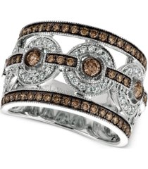 le vian chocolatier chocolate deco estate diamond ring (1-1/4 ct. t.w.) in 14k white gold