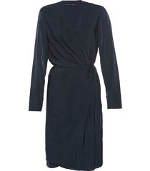 vestido dvf azul oscuro varini