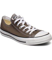 all star canvas ox låga sneakers grå converse