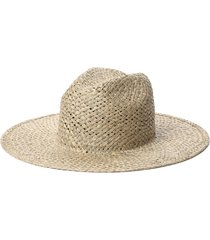 janessa leone lois straw fedora, size medium in natural at nordstrom