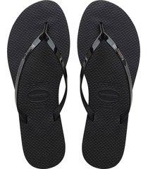 you metallic flip flops