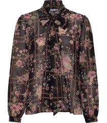 peony blouse blus långärmad svart ida sjöstedt