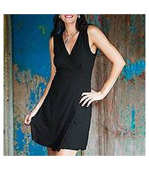 jersey knit dress, 'black sumatra chic' (indonesia)