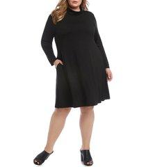 plus size women's karen kane quinn long sleeve turtleneck dress